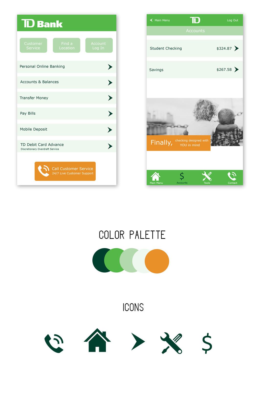 TD Bank Mobile App Redesign on Behance