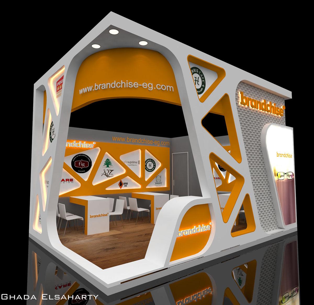 Exhibition Stand Design Behance : Brandchise booth design on behance