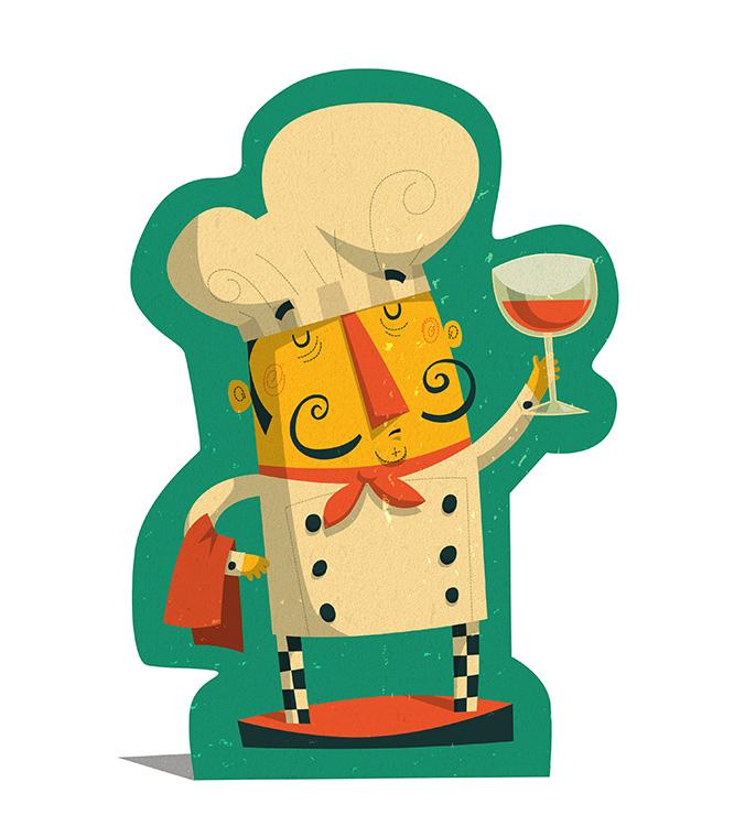 board game game Food  logo box characters graphics design chef mushroom shrimp prawn sea food illustratorsireland