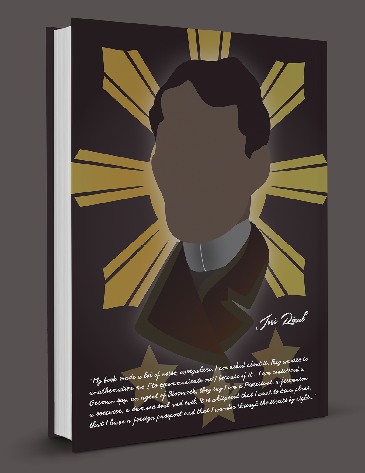 Noli me tngere jos rizal book cover on behance front cover to those who are not familiar with this book nor the historical importance of the author to the philippines you might be asking yourself solutioingenieria Gallery