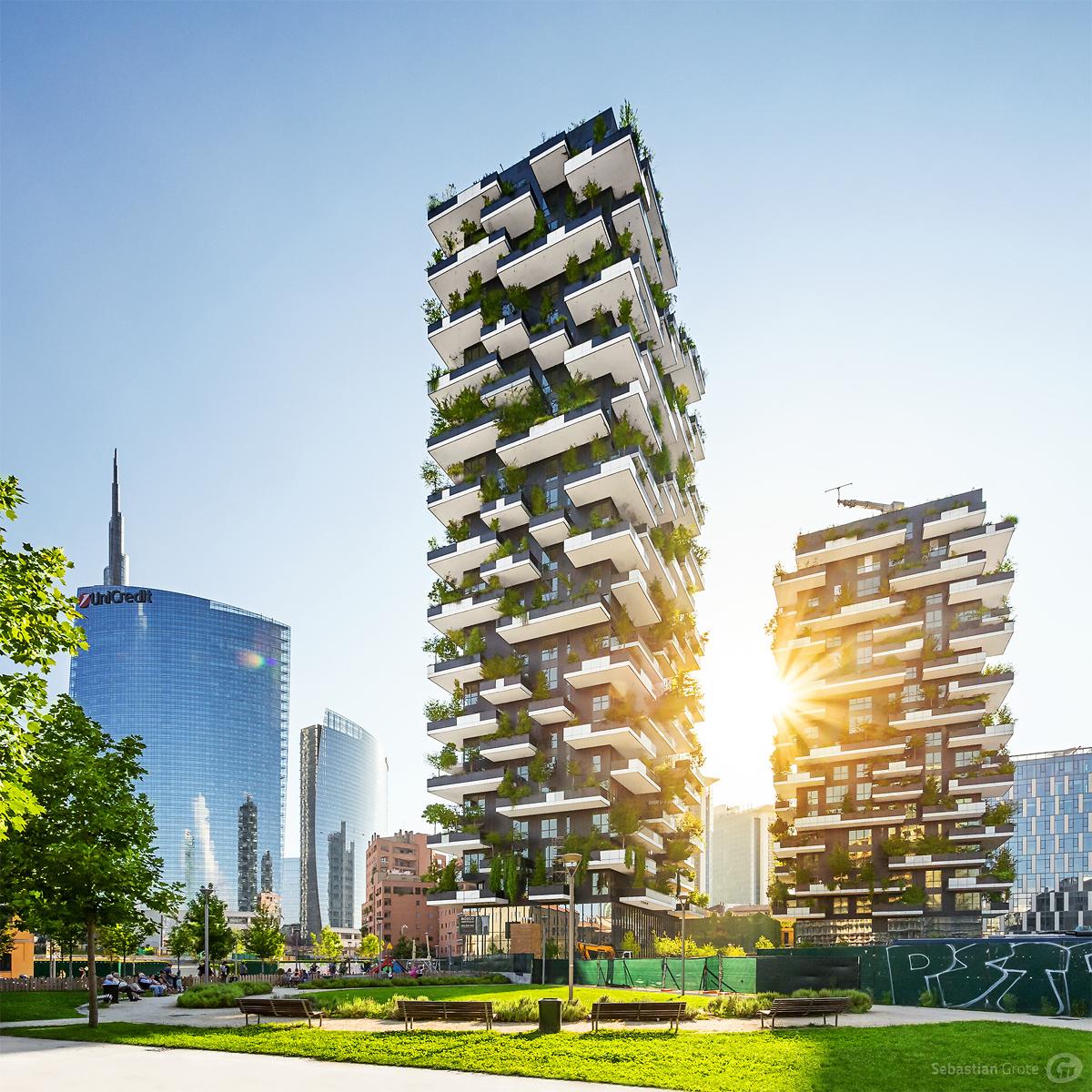Bosco verticale milano on behance for Garden designer milano