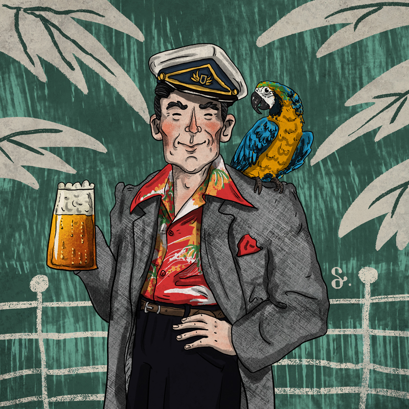 Harambe irish farmer irish illustration book Magazine illustration Character design  Belsnickel james joyce dubliners Tim Parks illustrasyon