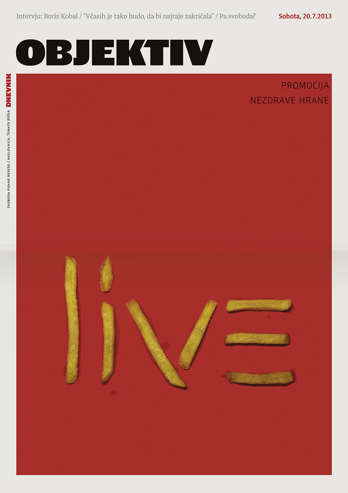 cover  newspaper Food   Fast food photo-illustration Editorial Illustration objektiv tomato košir slovenia award McDonalds Fast food evil live grand-prix