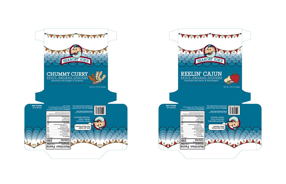 adobe adobe illustrator ILLUSTRATION  Ocean oysters package Packaging photoshop sea seafood
