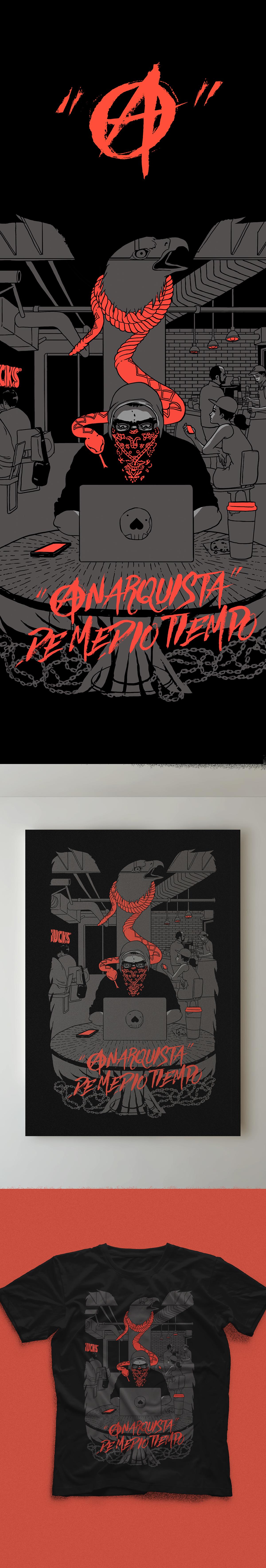 ilustramesta anarquista mexico aguila cafe serpiente ilustramestra3 snake eagle politics proponyprotesta critica autocritica