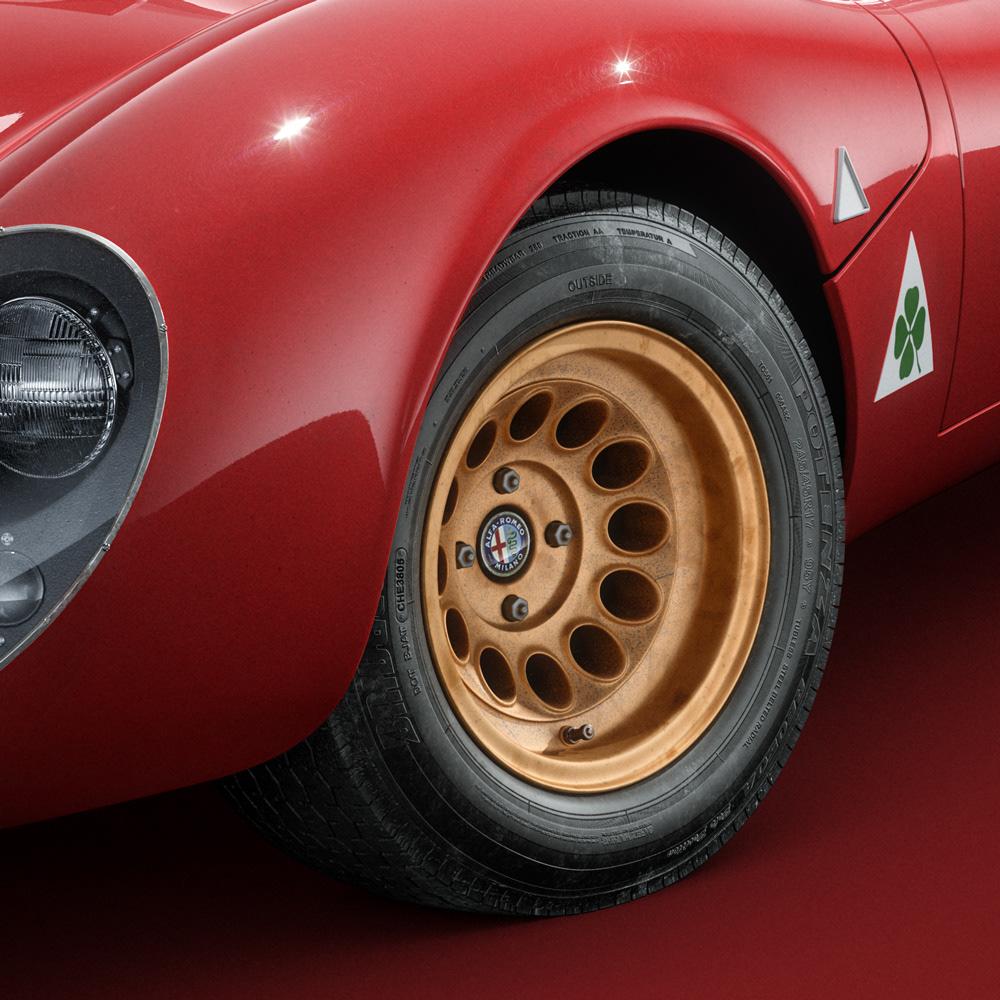 alfa alfaromeo CGI free model rendering Retro stradale studio supercar vintage