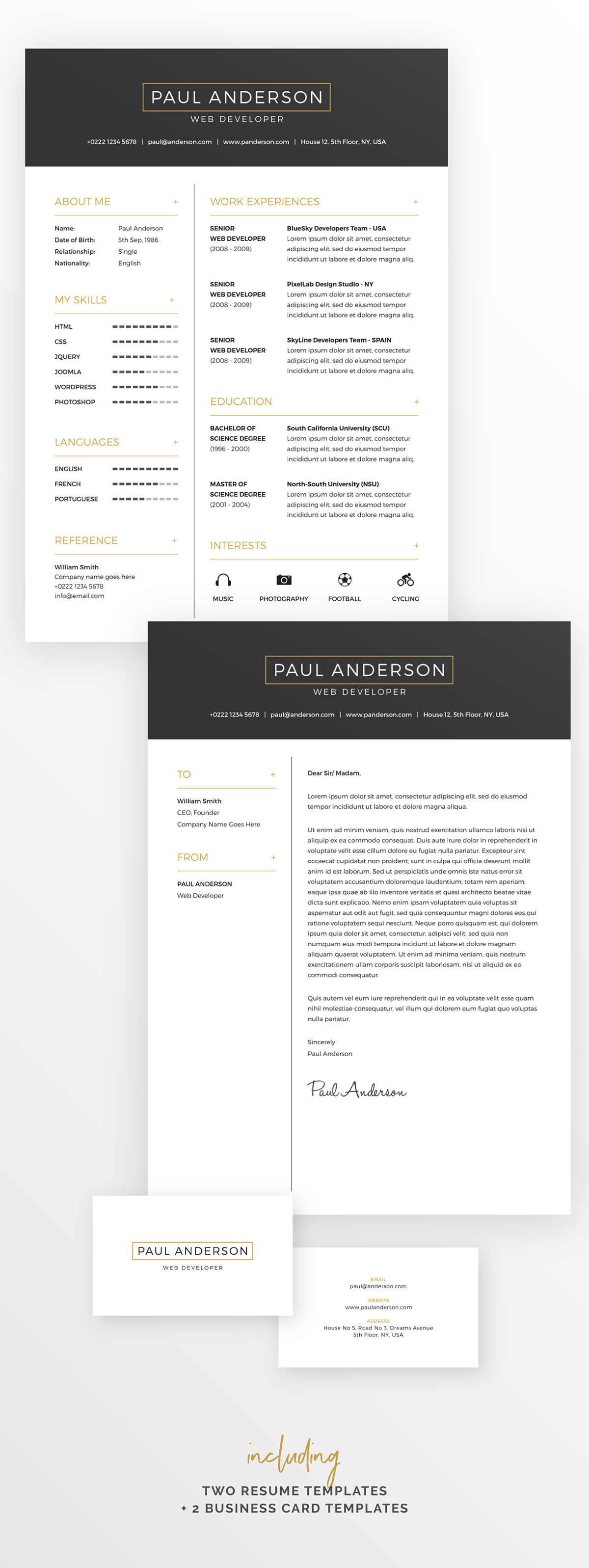 free resume cover letter template business cards on