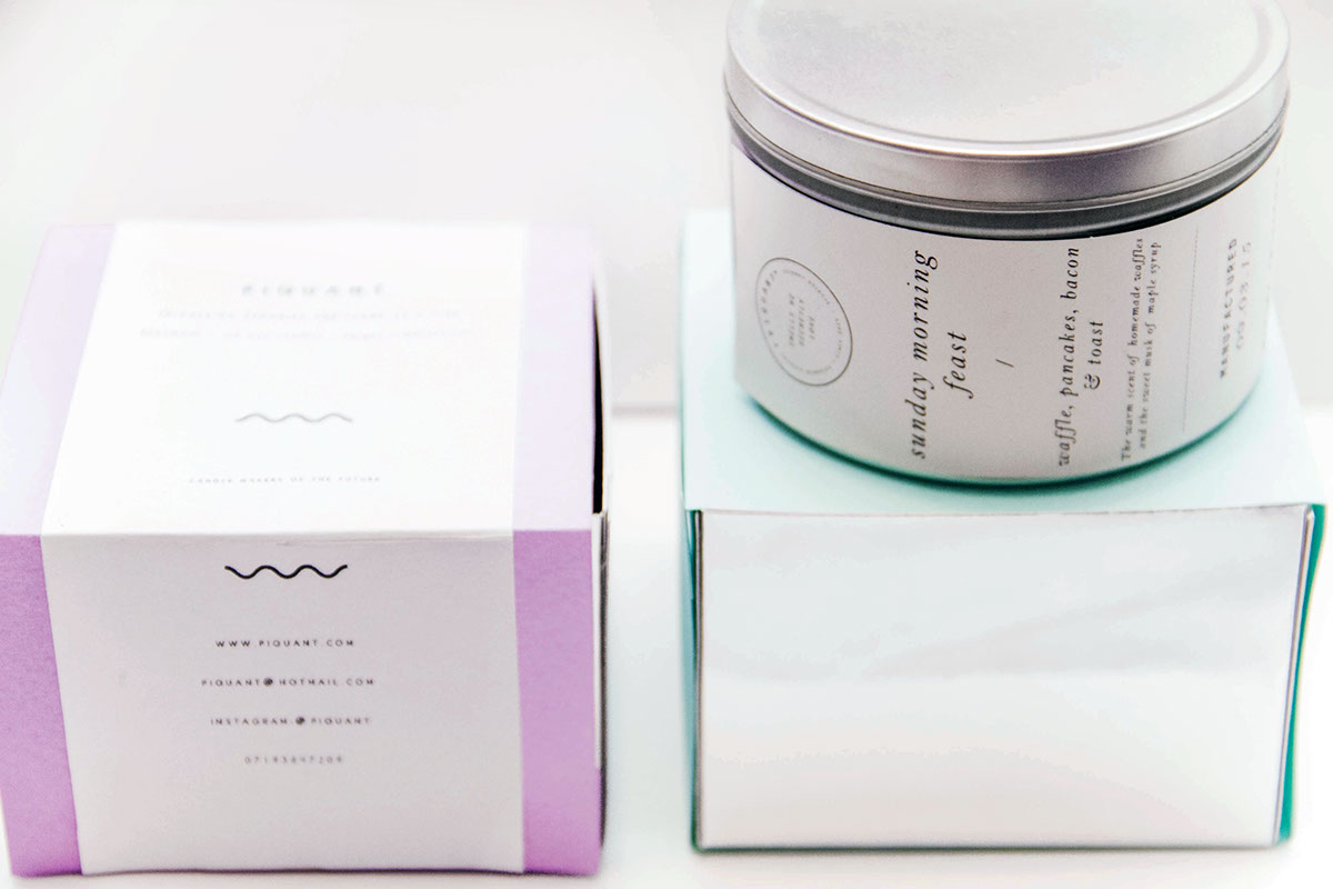 Piquant Candle Labels By Rachelle Tan