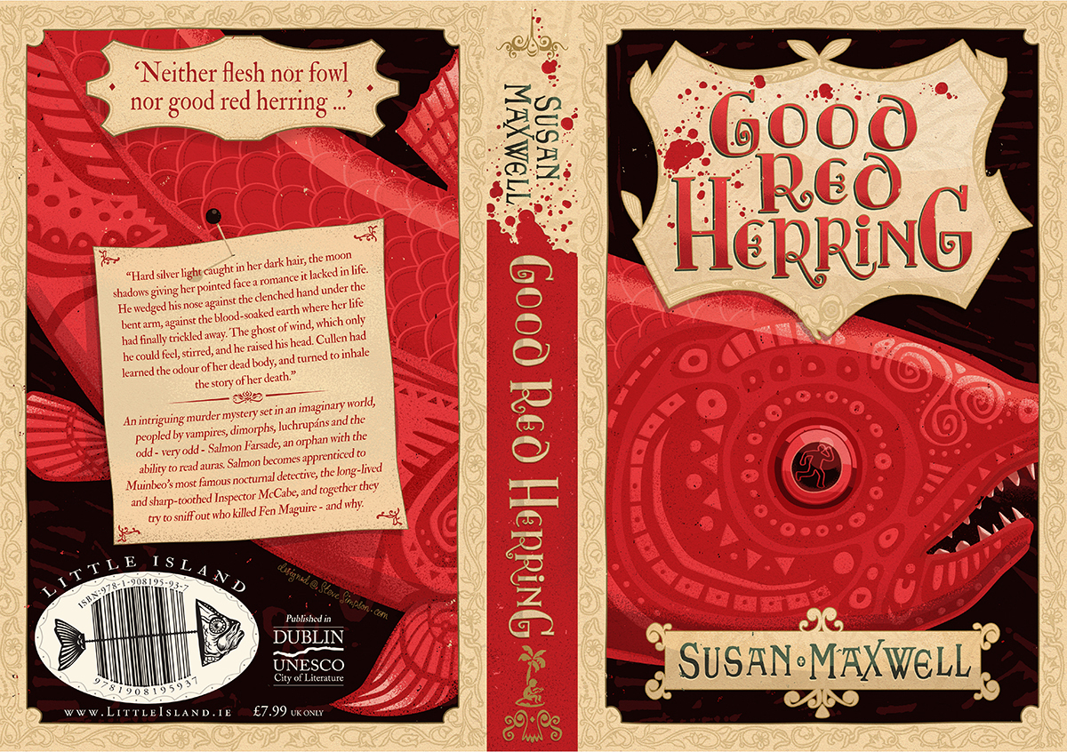 jacket book cover illustrated fish HAND LETTERING young adult illustrated barcode limited palette Fun illustrative design blood