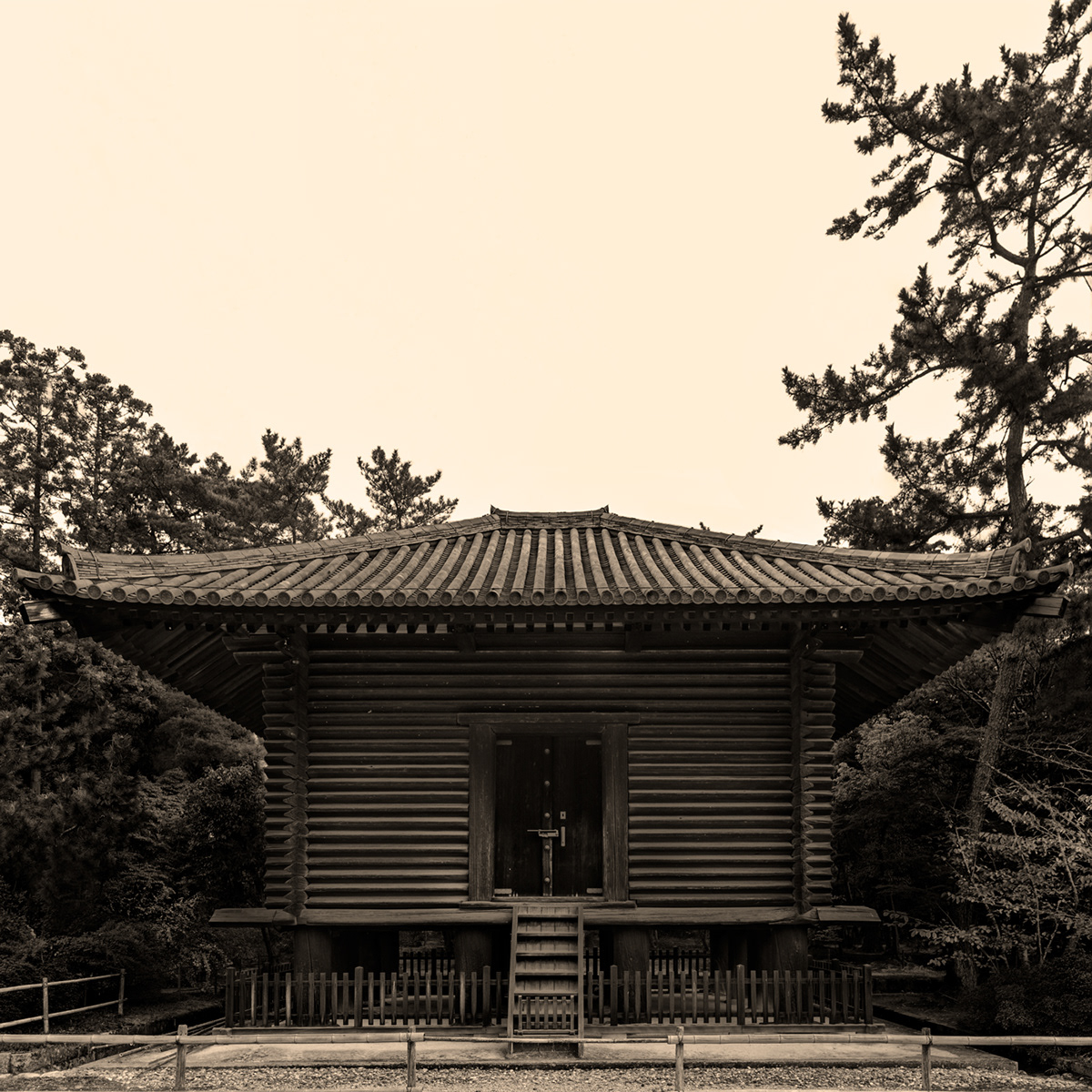 A Japanese style of architecture developed called Wayou Kenchiku. Photographing place: Nara (奈良 日本)