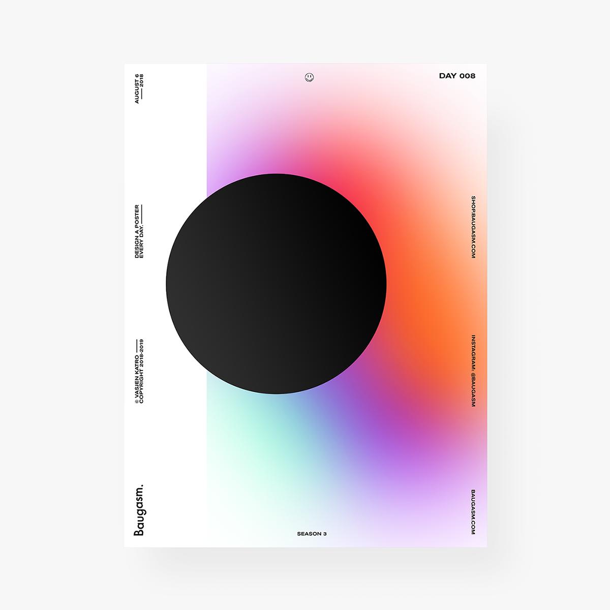 Abstrakce s barevnými přechody