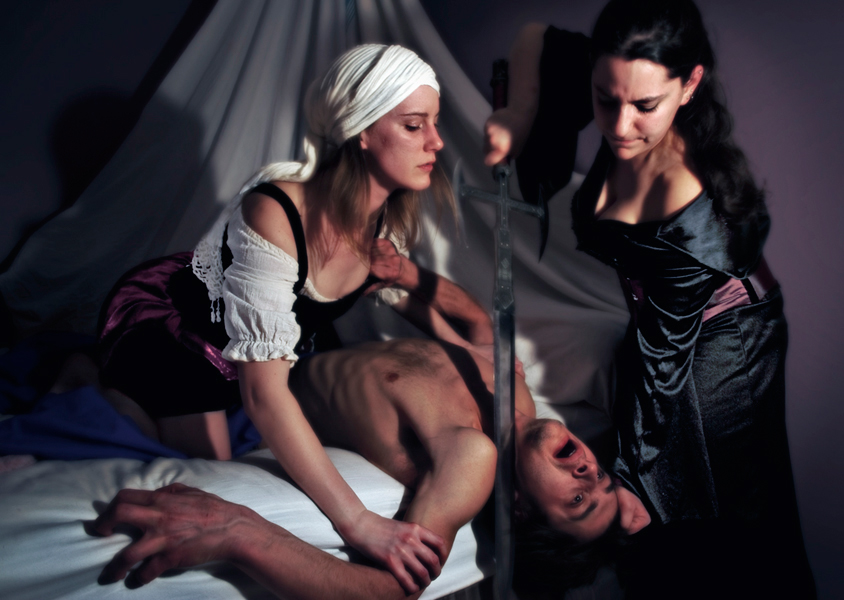 baroque vampire judith slaying holofernes self-portrait