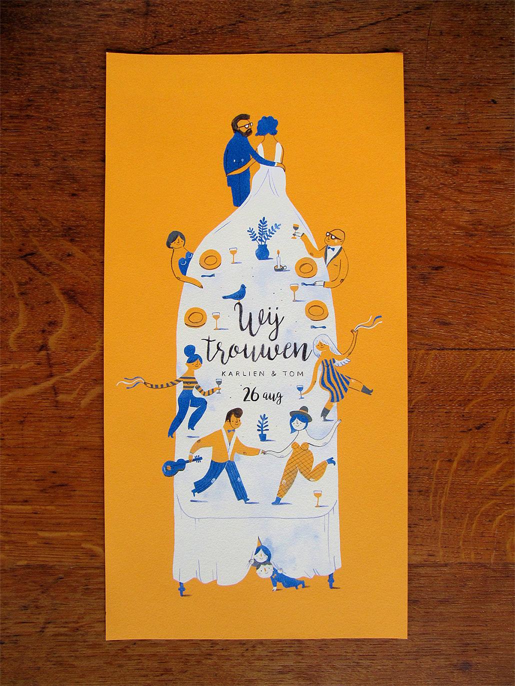 Wedding invitation tom karlien on behance stopboris Choice Image