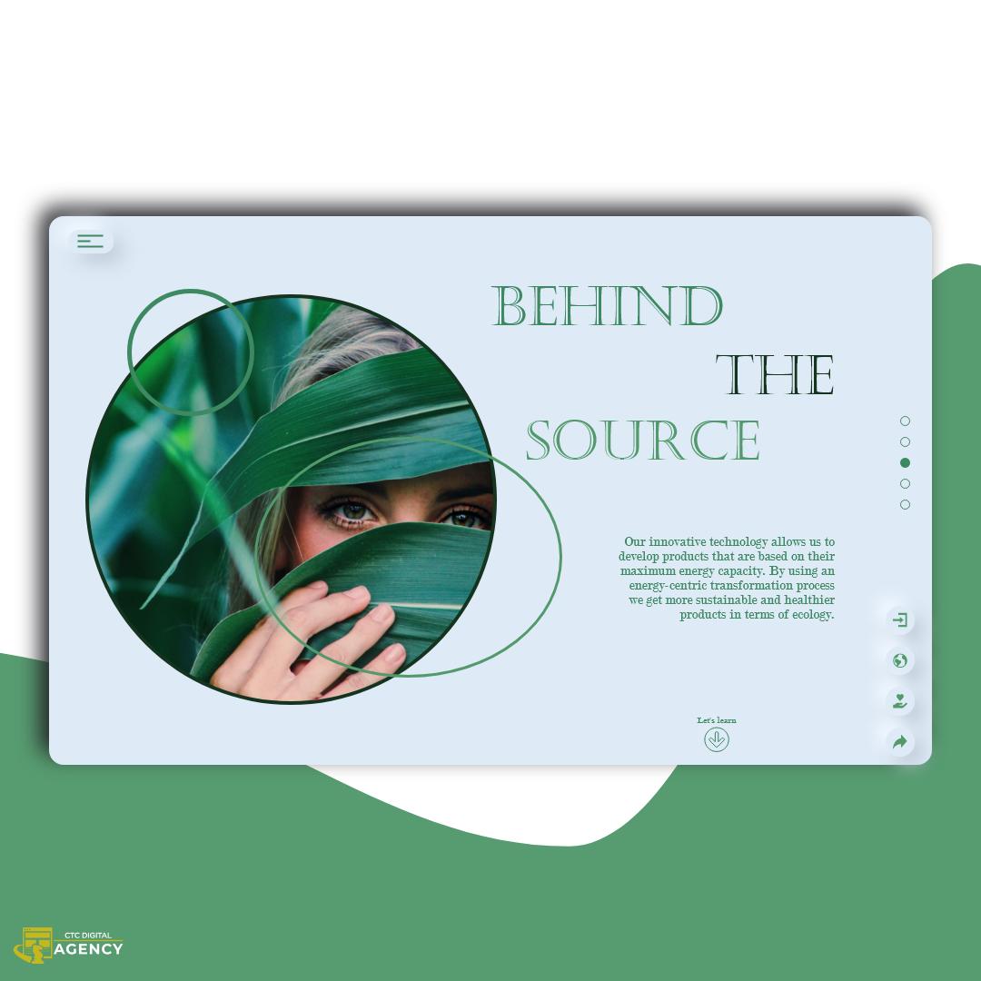 architect concept design green neumorphism UI ux Website