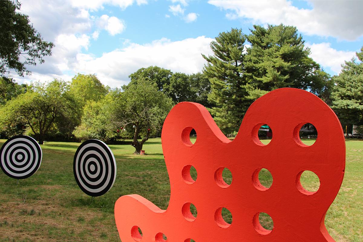 sculpture Outdoor Sculpture geometry boston Marek Jacisin Harvard Ceramics Program public art Art Installation inspire polystyrene foam board