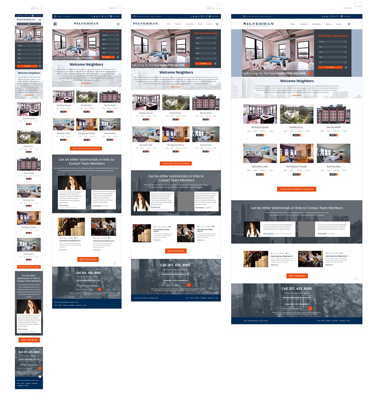 Responsive Real Estate Website Design concepts