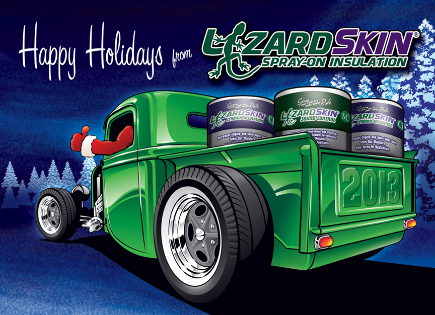Kristina albrecht hot rod christmas card m4hsunfo