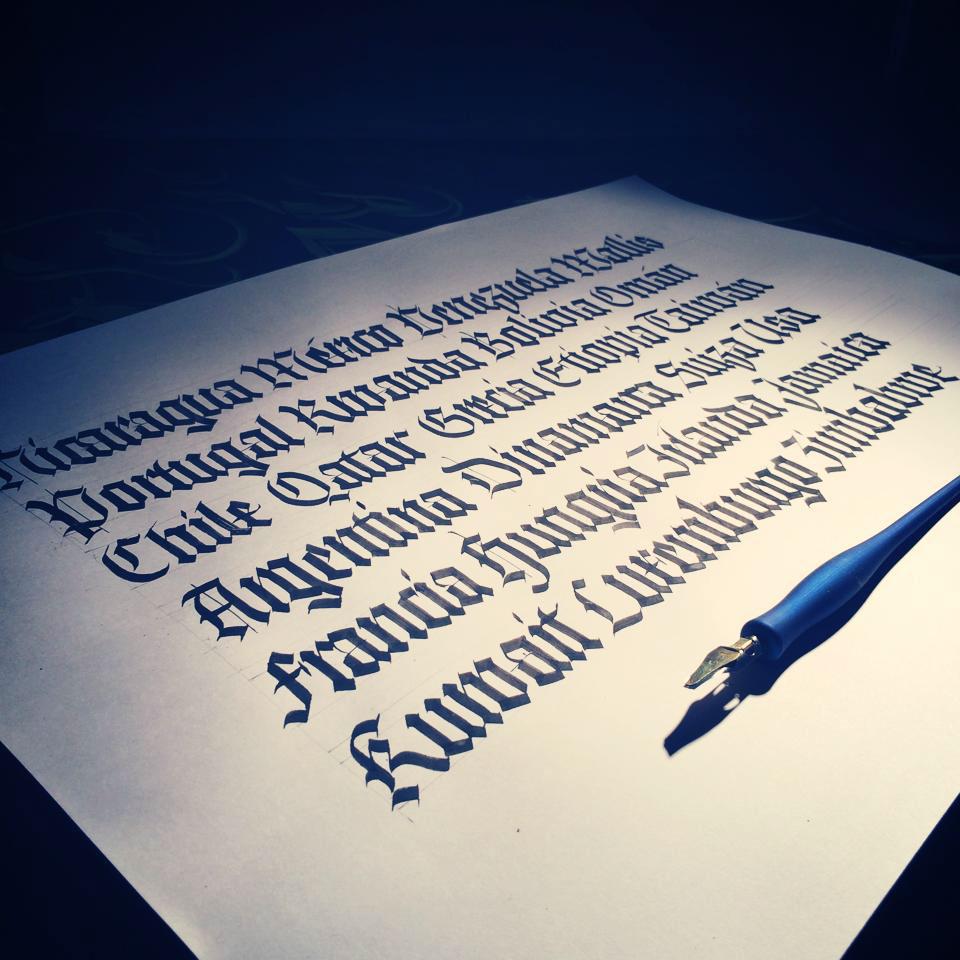 Calligraphy Blackletter On Behance