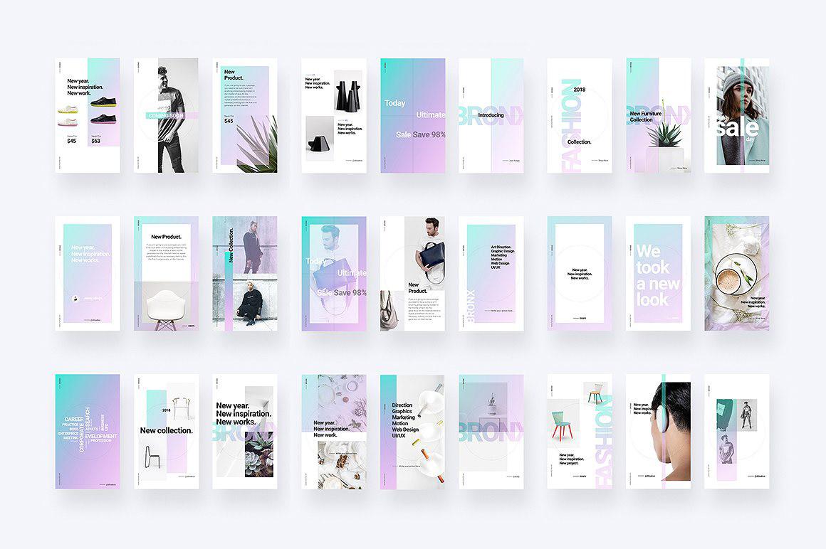 BRONX Light Instagram Stories Pack FREE DOWNLOAD! on Behance