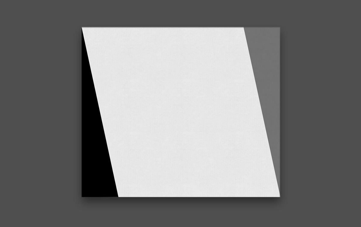 abstract minimilism Hard Edge black & white