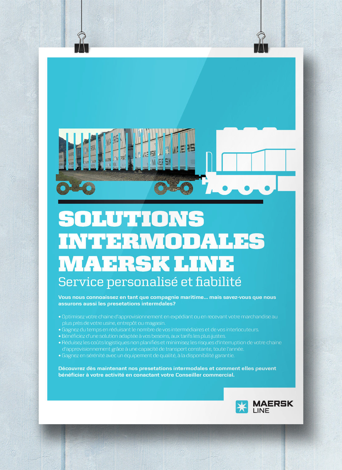 Maersk Line France: Intermodal Posters on Behance