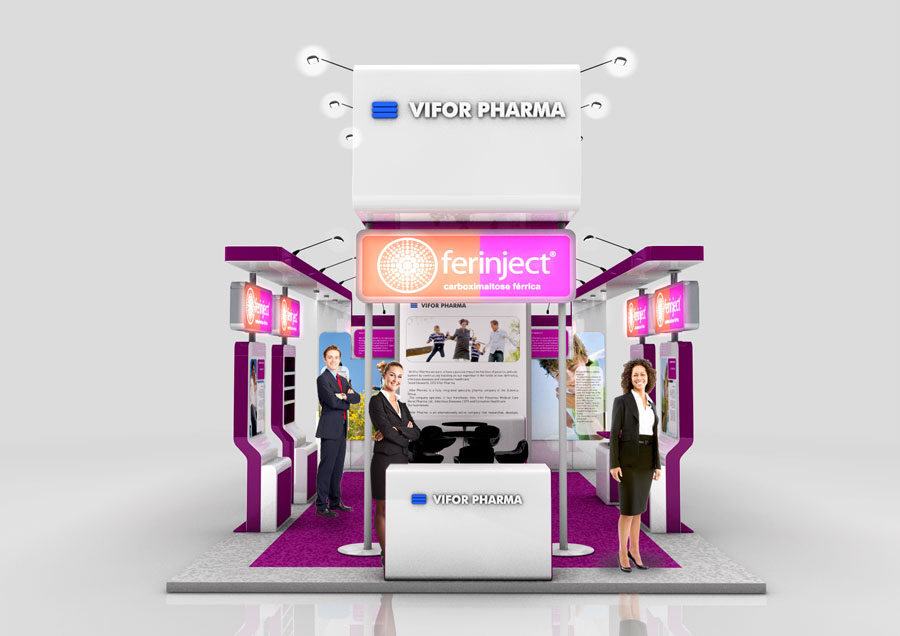 Pharmaceutical Exhibition Stand Design : Om pharma exhibition booth on behance