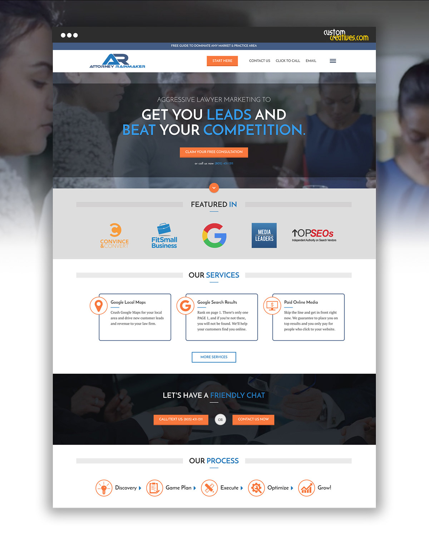 Web Design  web development  wordpress theme attorney website