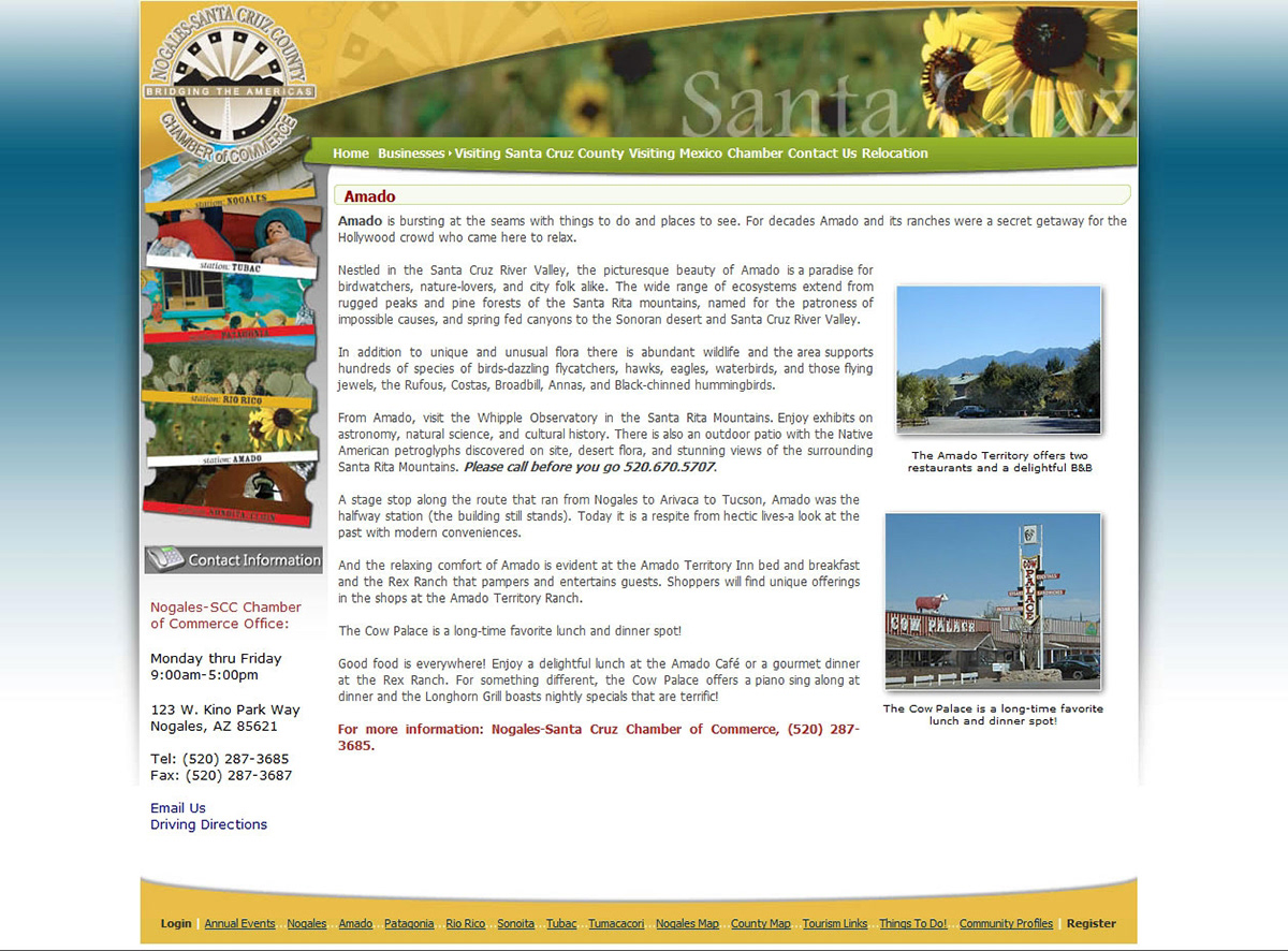 Chamber of commerce web project 2010 on behance custom template design and web development project for nogales chamber of commerce using dotnetnuke cms 2010 maxwellsz