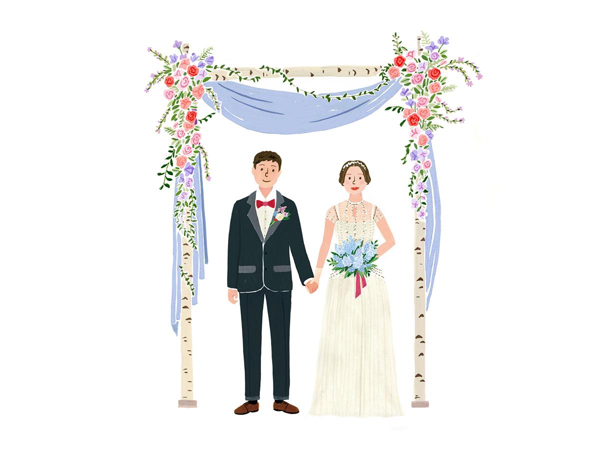Wedding Illustration Barunsoncard On Behance