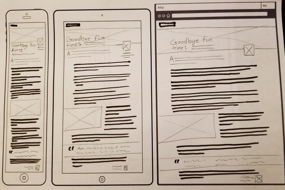 Responsive web design Responsive thumbnails thumbnail sketches  mobile tablet browser Layout