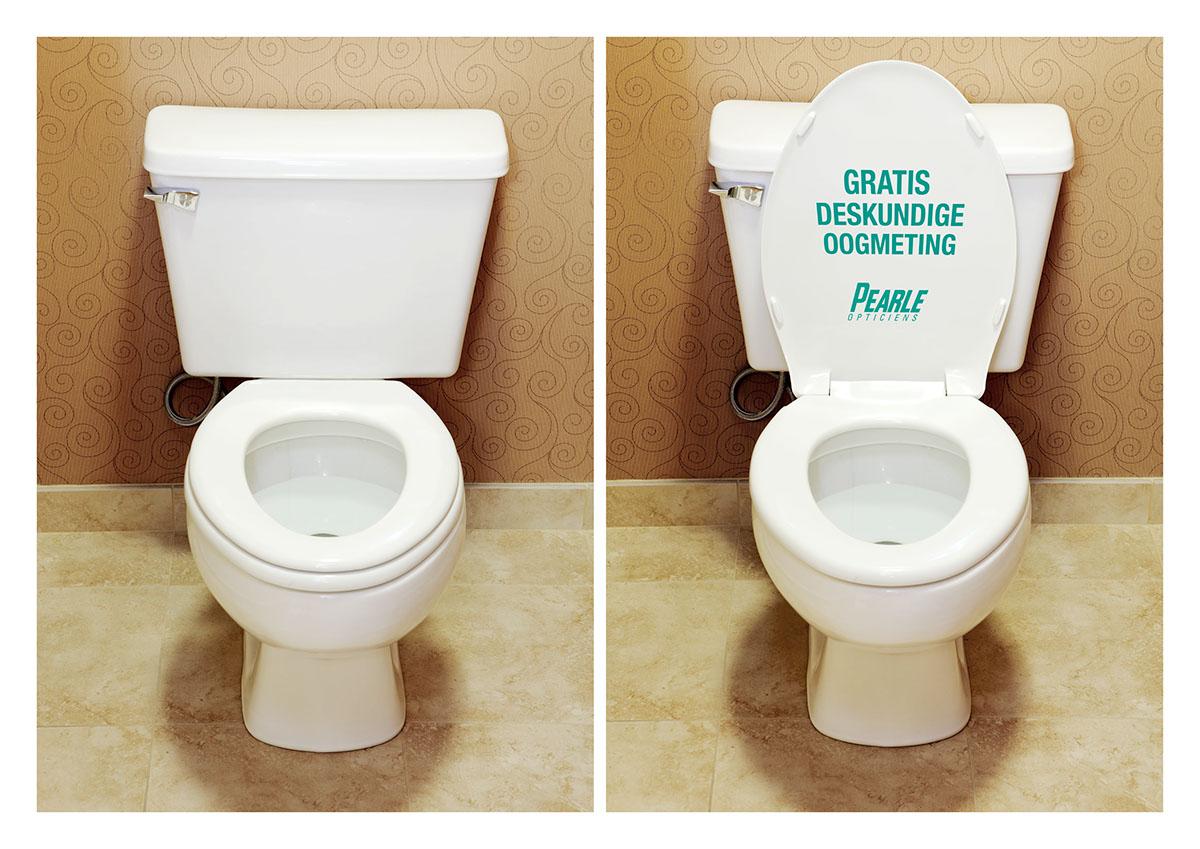 Toiletvertising guerilla marketing on behance - Trompe l oeil toilette ...