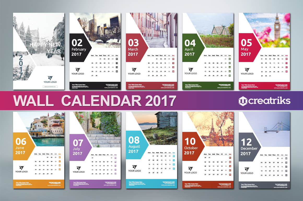 Corporate Calendar Theme Ideas : Wall calendar v on behance