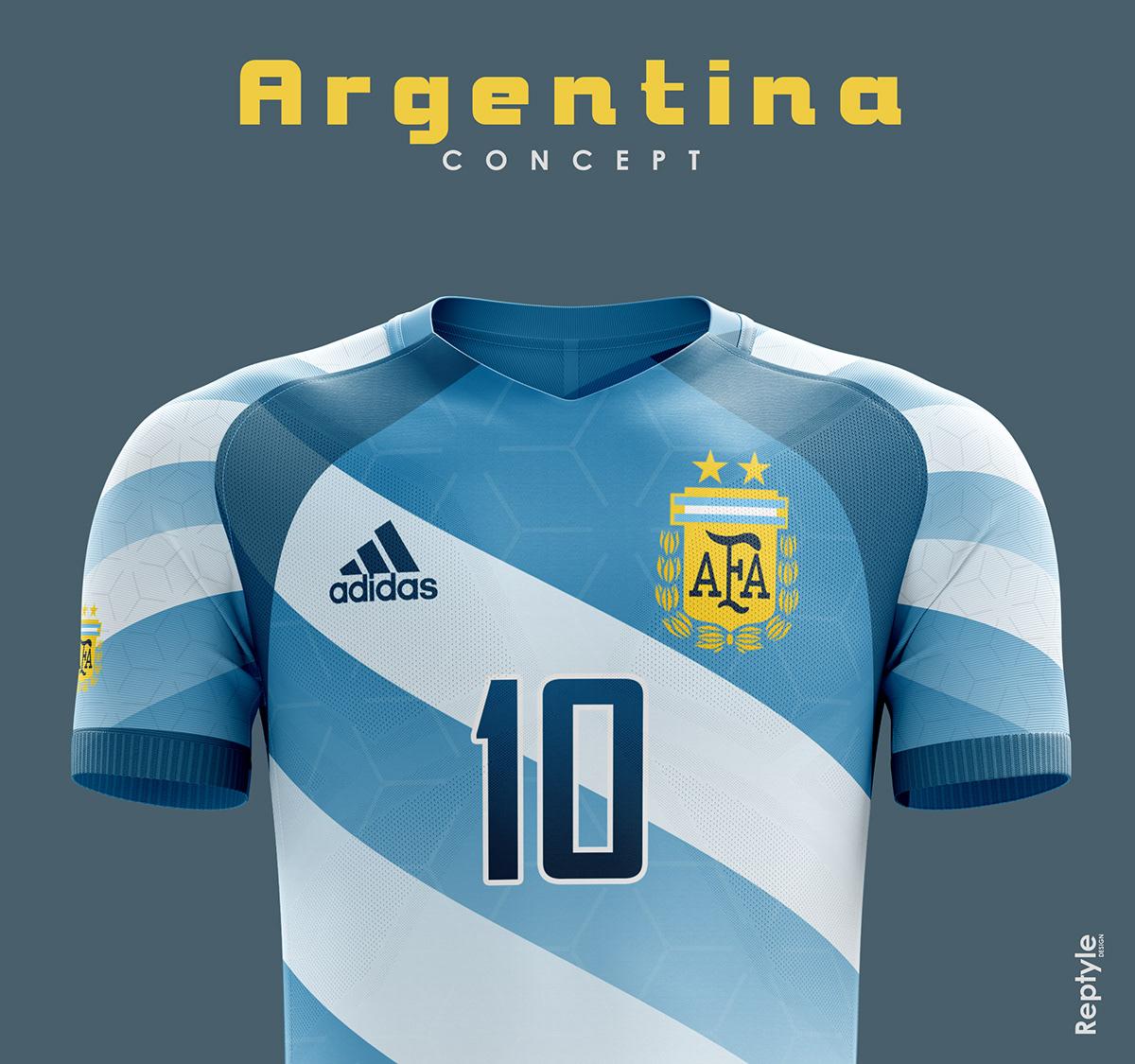 Argentina soccer kit concept on Behance 534ef8230
