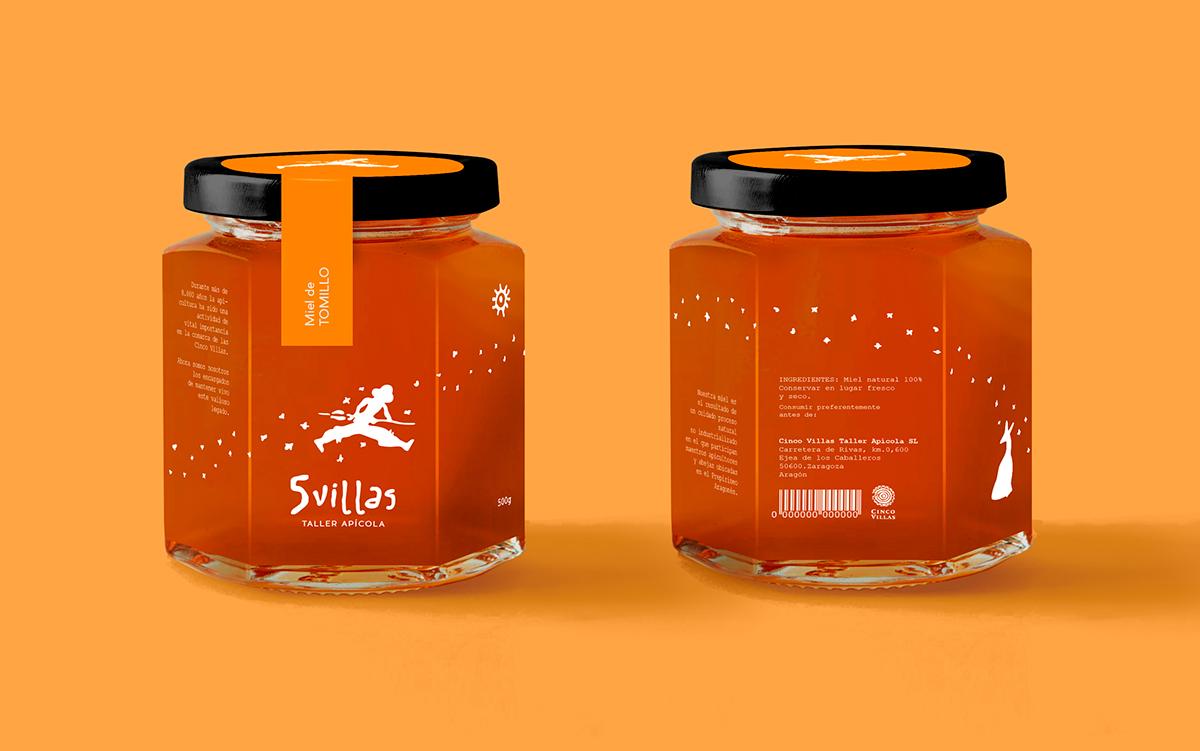 ELISAVA PACK elisava honey Packaging Prehistory Aragon Nature natural miel heritage