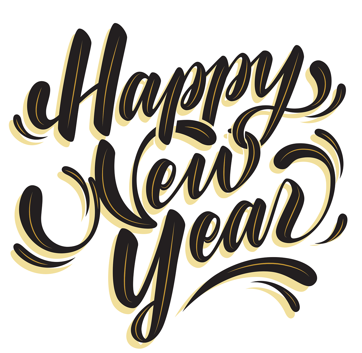 happy new year digitized lettering on behance