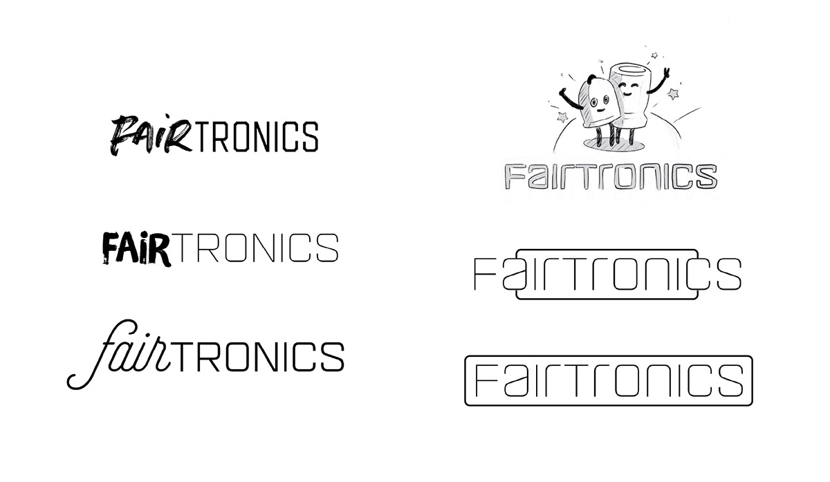 different type of simple logo sketches