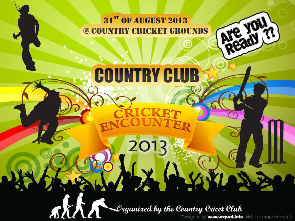 Free Events Banner Vector - PSD - Cricket tournament on Behance