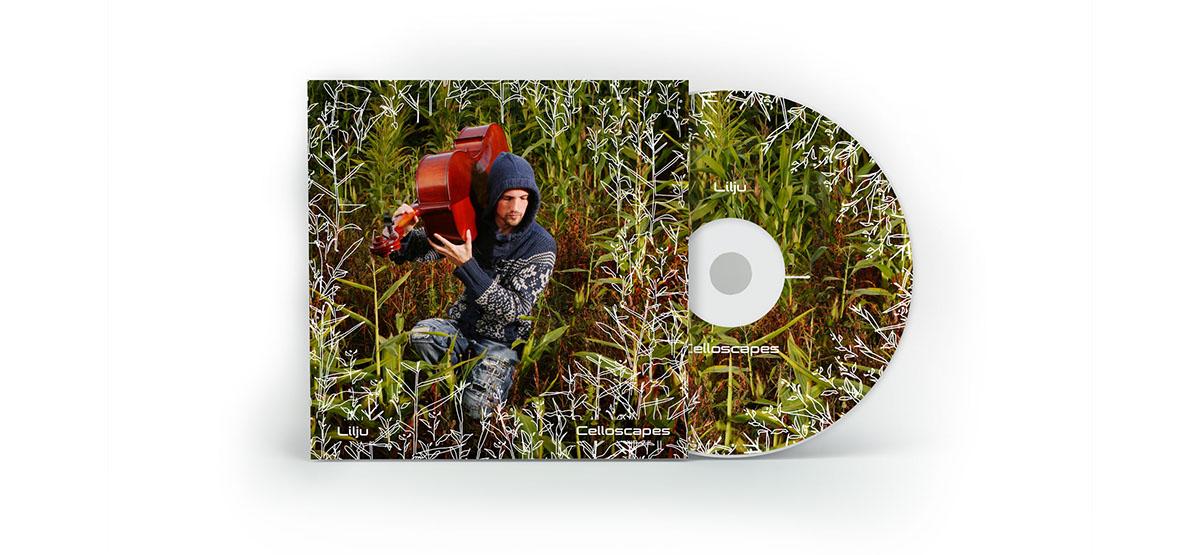 album cover cello music Website design