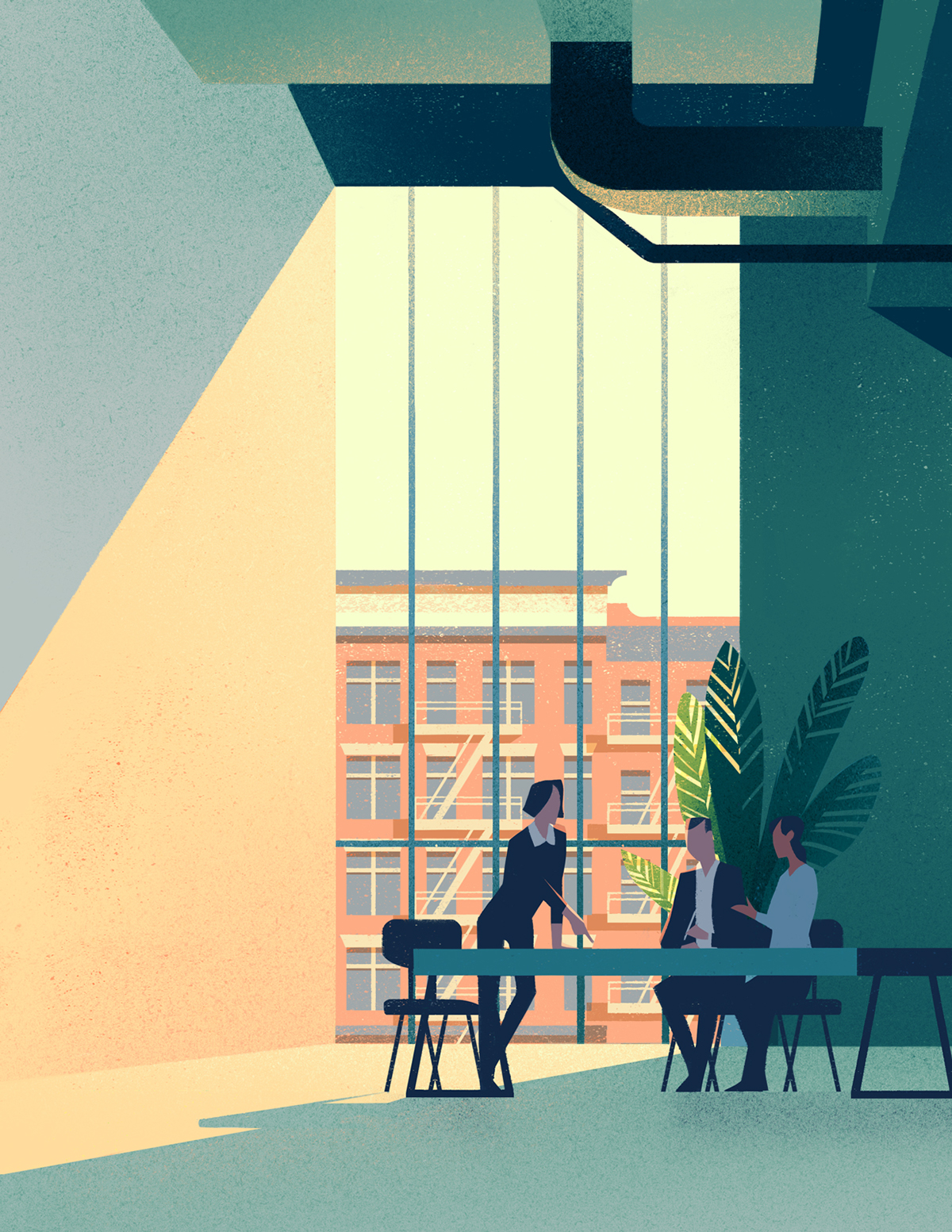 Office and Business Illustration on Behance