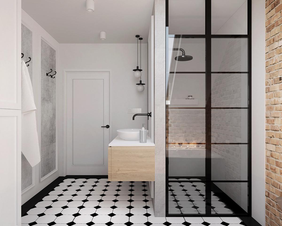 Image may contain: bathroom, door and indoor