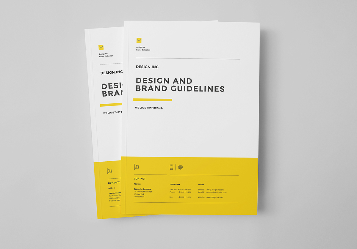 brand manual on behance rh behance net InDesign Flyer Template InDesign Examples