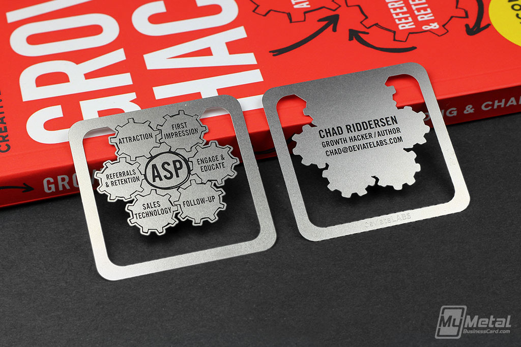 Metal Bookmark Business Cards on Behance