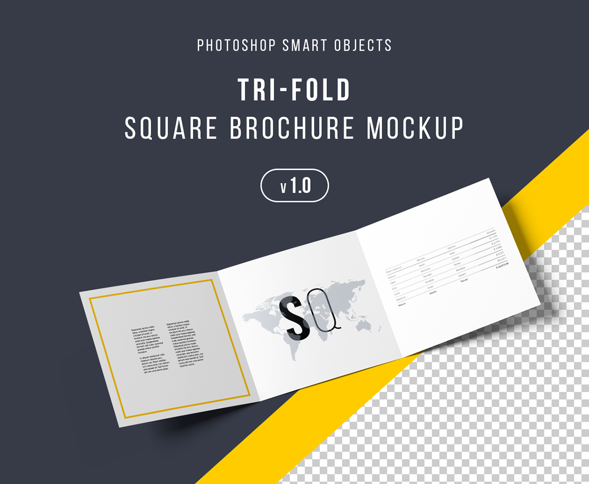 Exhibition Stand Psd : Square trifold brochure mockup psd on behance