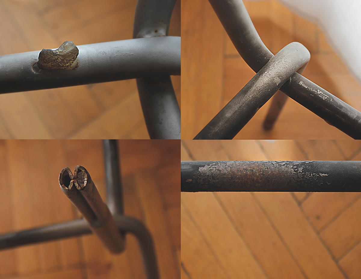 metal Feminin chair perforated Calligaris model rapid prototype soft Phoenix