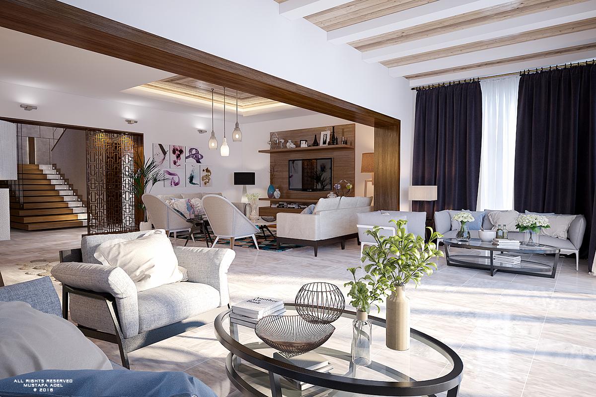 Modern Vintage Villa on Behance