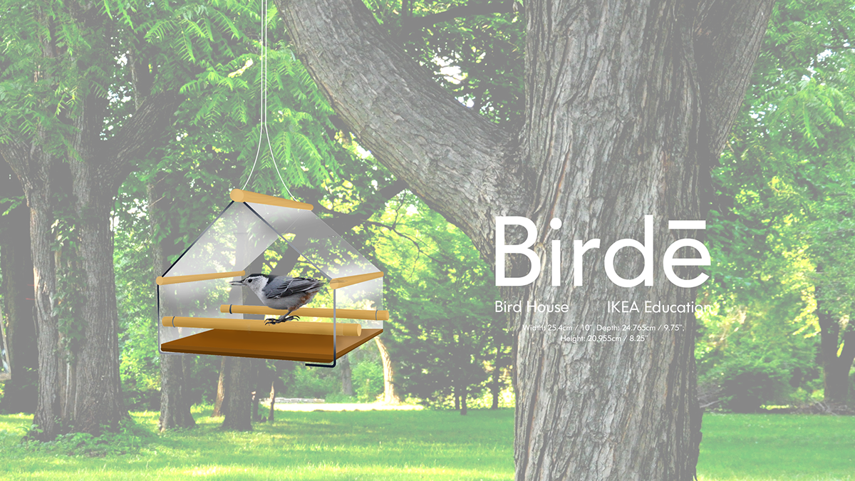 IKEA Education - Birdē bird feeder and application on RISD Portfolios