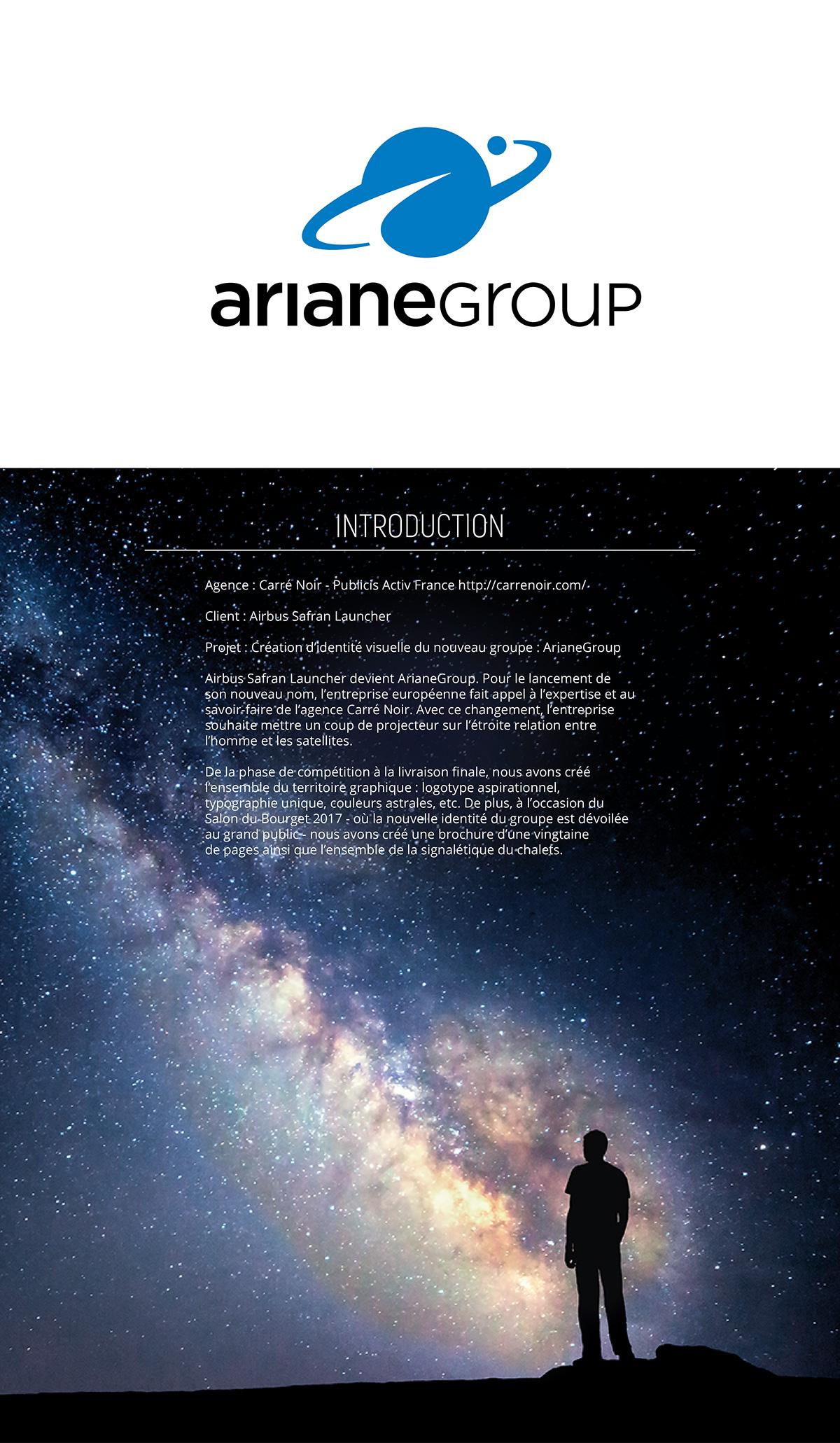 ArianeGroup Identité Visuelle Carré Noir on Behance