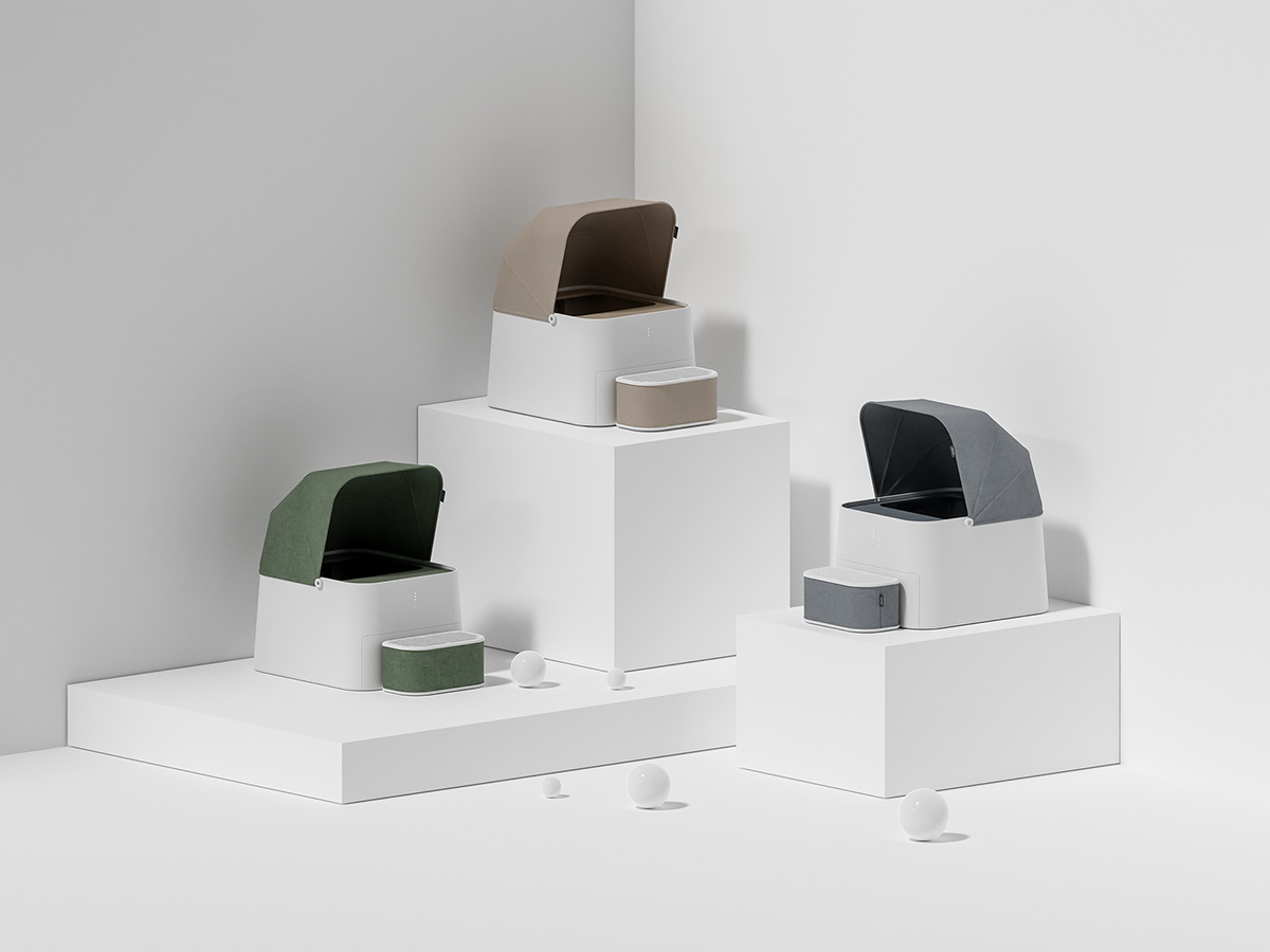 bath bathroom Cat cube idea interaction living objet square toilet