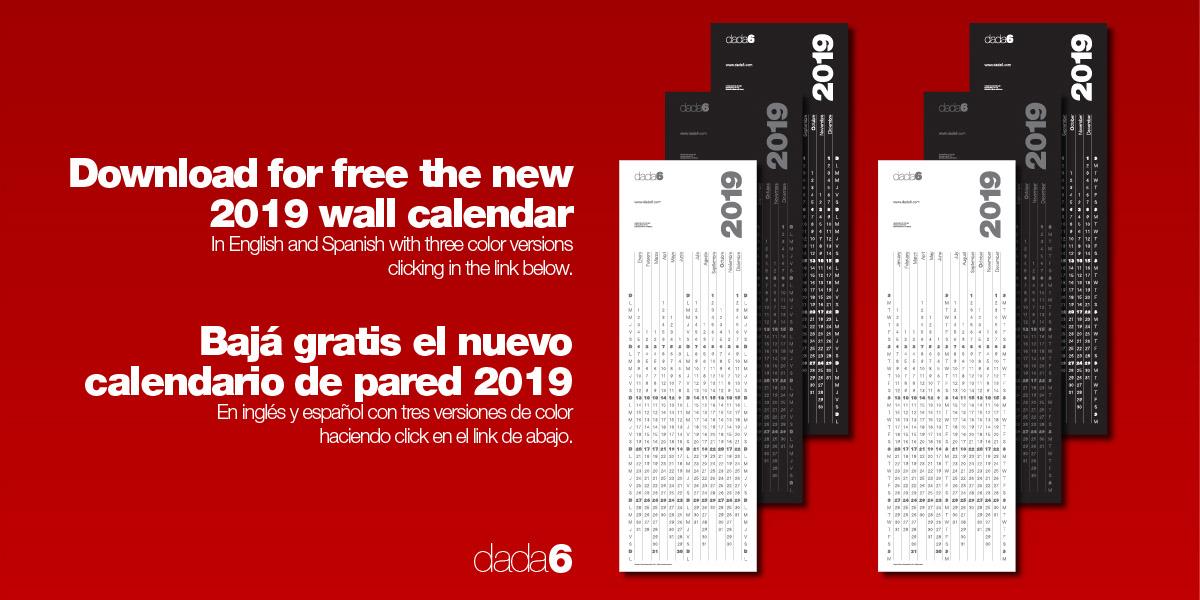 Calendario 216.Free Download 2019 Calendar Calendario 2019 On Behance