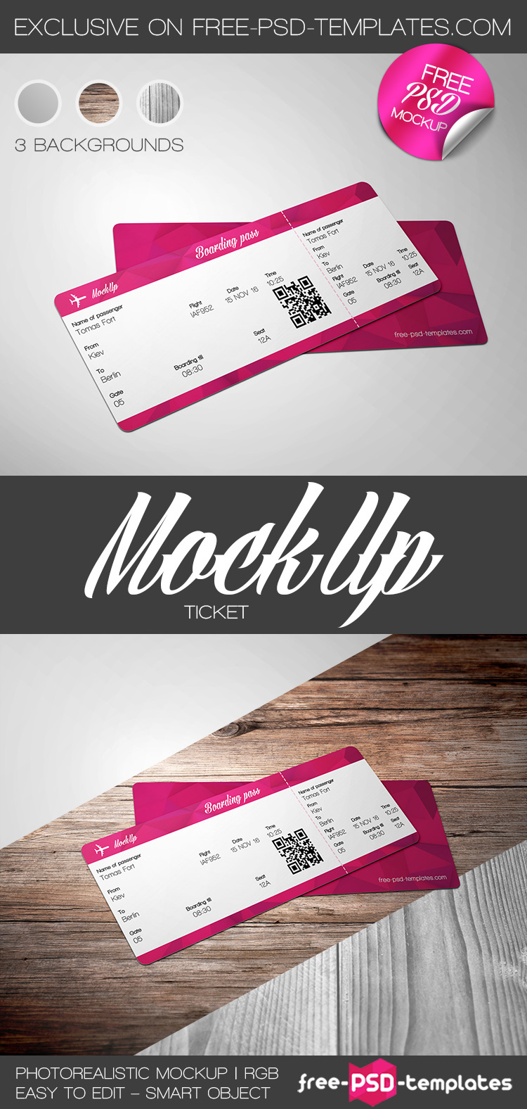 Free ticket mock up in psd on behance do you need absolutely free ticket mock up in psd for your business and entertainment we would like to offer you to download our new one magicingreecefo Choice Image